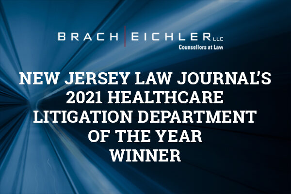 2021 Healthcare Award from New Jersey Law Journal